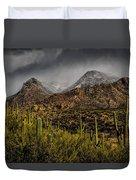 Storm Over Catalinas 15 Duvet Cover