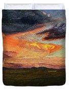 Storm Over Davis Mountains Duvet Cover