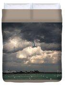 Storm Over Lake Michigan Duvet Cover