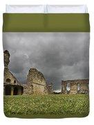 Storm Over Ruin Duvet Cover