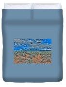 Storm Over Taos Mountain Duvet Cover