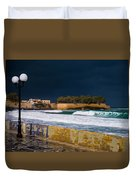 Storm Over The Aegean Duvet Cover