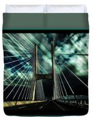 Storm Over The Bridge  Duvet Cover