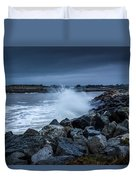 Storm Over The Jetty 1 Duvet Cover