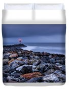 Storm Over The Jetty 2 Duvet Cover