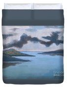 Storm Over The Lake Duvet Cover