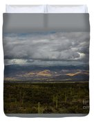 Storm Over The Mountains Of Arizona Duvet Cover