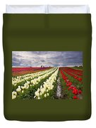 Storm Over Tulips Duvet Cover by Mike  Dawson