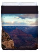 Storm Passes The Grand Canyon Duvet Cover