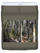 Storm Point Trail Forest Duvet Cover