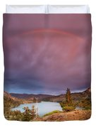 Storm Skies Over Echo Duvet Cover