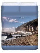 Storm Tide Cliffs End Duvet Cover