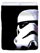 Storm Trooper In Black And White Duvet Cover