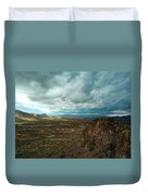 Storms And Cliffs Duvet Cover