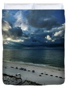 Storms Over The Gulf Of Mexico Duvet Cover