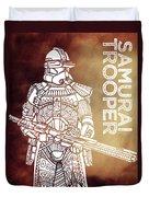 Stormtrooper - Star Wars Art - Brown Duvet Cover