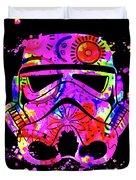 Stormtrooper Mask Rainbow 10 Duvet Cover