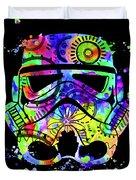 Stormtrooper Mask Rainbow 9 Duvet Cover