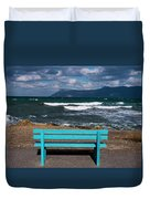 Stormy Aegean Sea Duvet Cover