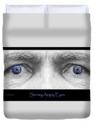 Stormy Angry Eyes Poster Print Duvet Cover