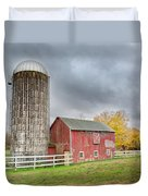 Stormy Autumn Skies Square Duvet Cover