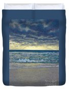 Stormy Beach Duvet Cover