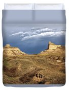 Stormy Day At Mitchell Pass Duvet Cover
