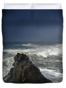 Stormy Day At Sunset Bay Duvet Cover