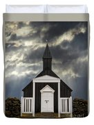 Stormy Day At The Black Church Duvet Cover