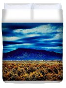 Stormy Day In Taos Duvet Cover