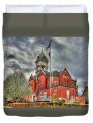 Stormy Day Jones County Georgia Court House Art Duvet Cover