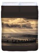 Stormy English Coastal Seascape Duvet Cover