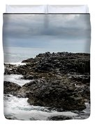 Stormy Giant's Causeway Duvet Cover