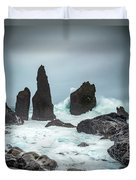 Stormy Iclandic Seas Duvet Cover