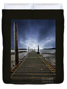 Stormy Jetty Duvet Cover by Meirion Matthias