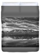 Stormy Lake Tahoe Black And White Duvet Cover