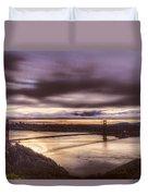 Stormy Morning Sf Bay Bridge Duvet Cover