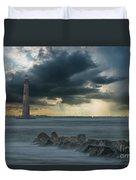Stormy Morris Island Duvet Cover