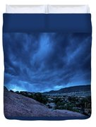 Stormy Night Sky Arches National Park - Utah Duvet Cover