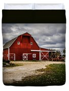 Stormy Red Barn Duvet Cover
