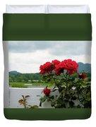 Stormy Roses Duvet Cover by Valeria Donaldson