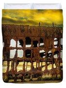 Stormy Shipwreck Duvet Cover