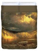 Stormy Skies Above Echo Lake White Mountains  Duvet Cover