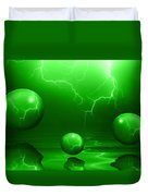 Stormy Skies - Green Duvet Cover