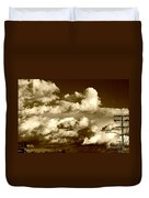 Stormy Skies In Socal Duvet Cover