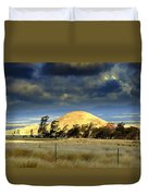 Stormy Skies Over Sunset Cinder Cone Duvet Cover
