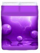 Stormy Skies - Purple Duvet Cover