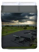 Stormy Sky Over Fort Moultrie Duvet Cover