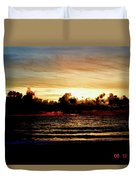 Stormy Sunrise Over The Ocean  Duvet Cover