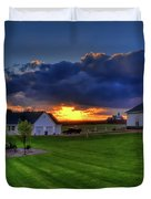Stormy Sunset In The Country Duvet Cover